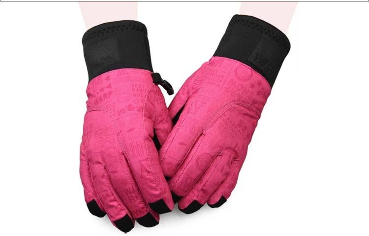 GLV884 children winter Cycling font b gloves b font Waterproof thermal wear rub skiing font b