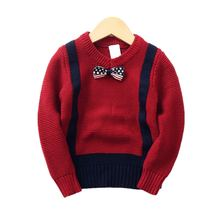Auro mesa/детский вязаный свитер джентльмена с длинными рукавами