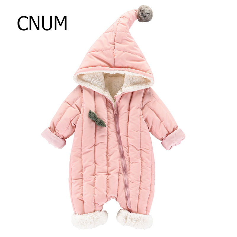 CNUM Kids Baby Rompers Newborn Girls Long Sleeve Cotton Boy Printed Winter Clothing Hooded Infant Baby Clothing Boy Clothing cotton baby rompers set newborn clothes baby clothing boys girls cartoon jumpsuits long sleeve overalls coveralls autumn winter