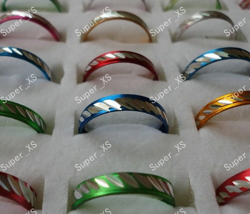 2000pcs 20sets Wholesale Jewelry Ring lots Pretty Multicolor Aluminum Alloy Rings New free shipping RL088