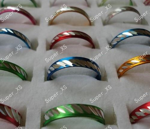 2000 stücke 20 sets Großhandel Schmuck Ring viele Hübsche Multicolor Aluminium Legierung Ringe Neues freies verschiffen RL088-in Ringe aus Schmuck und Accessoires bei  Gruppe 1