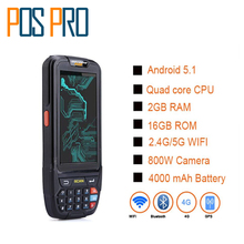 IPDA018 Libere la nave!!! 2D de Mano pda terminal de Apoyo WI-FI bt 4g GPS Cámara Mini Barcode Scanner Para Android Tablet Pc Teclado