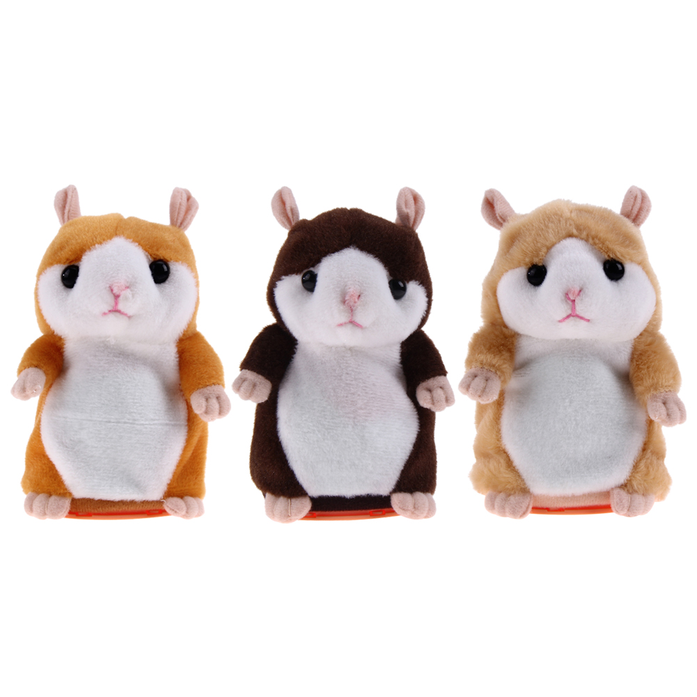 Lovely Talking Hamster Plush Toy Cute Speak Talking Sound Record Hamster Kids Early Educational Toy