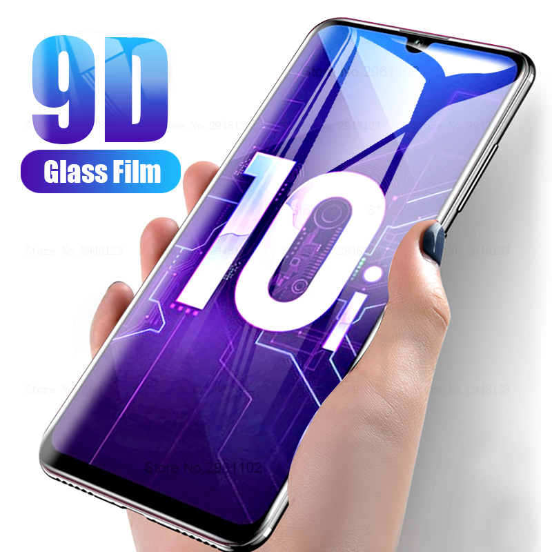 9D Curved For Huawei Honor 10i 20 <font><b>30</b></font> Pro <font><b>10</b></font> Lite 9X 8X 8C 8A 8S Protective Glass On huwei Honer 30Pro Honor10i Full Glue Glass image