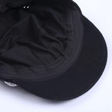 Simplee Fashion black hat cap women Casual streetwear rope flat cap Elegant solid autumn winter warm beret hat female 2017