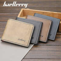 Men wallets Top 2018 Vintage Leather Fashion Brand Luxury Wallet Short Slim Male Purses Money Clip Credit Card Dollar Price 079