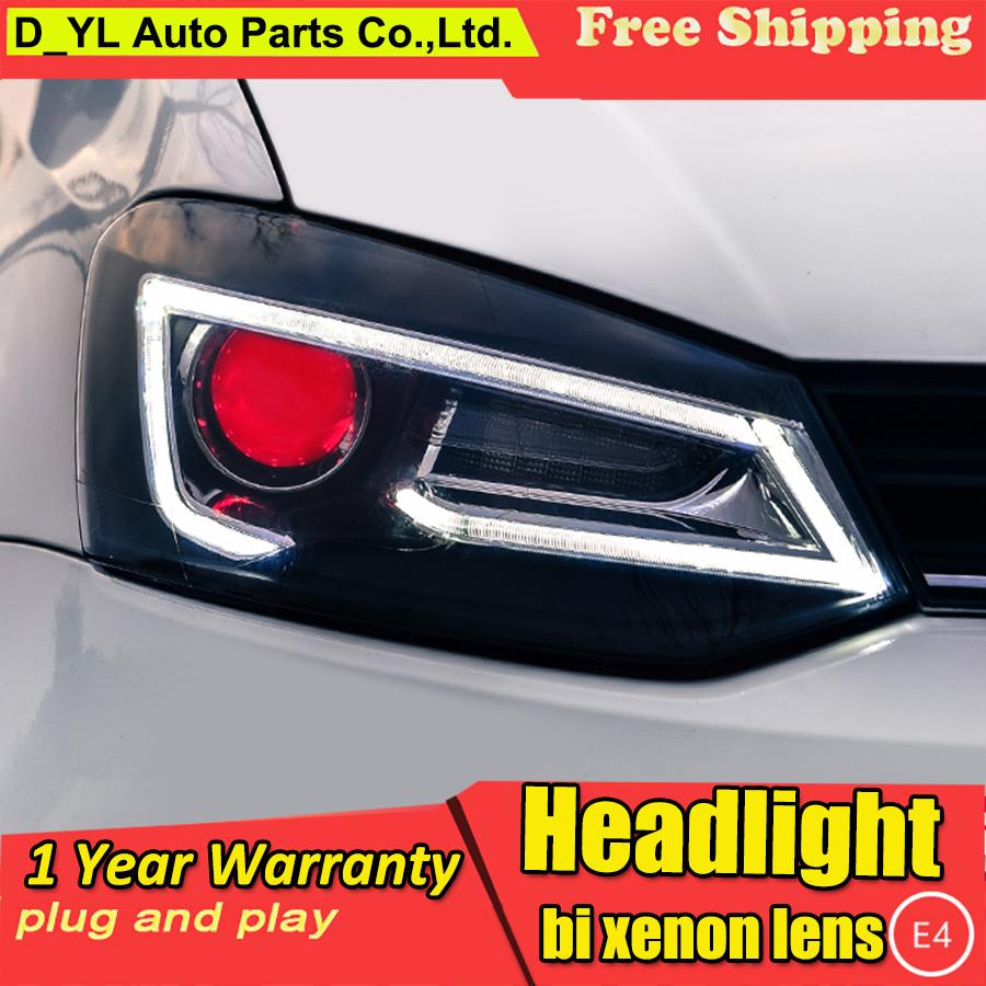 Car Styling For VW Polo headlights 2009 2015 Polo led headlight Head Lamp led drl projector