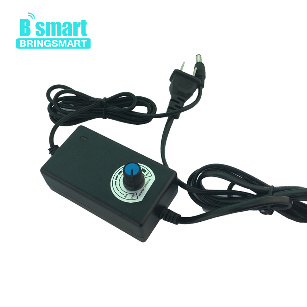 Bringsmart Motor Power Adapter AC to DC with Adjustable Speed Switch 12V-2A Motor Power Supply Gear Motor Free Shipping bringsmart motor power adapter 100 240v ac to 12v 24v dc power adapter ac dc 12v 3a motor power supply 24v 3a 24v 2a motor