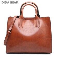Женские кожаные сумки, женская винтажная сумка, повседневная женская сумка, Высококачественная сумка тоут для дам, сумка на плечо, большая сумка мессенджер