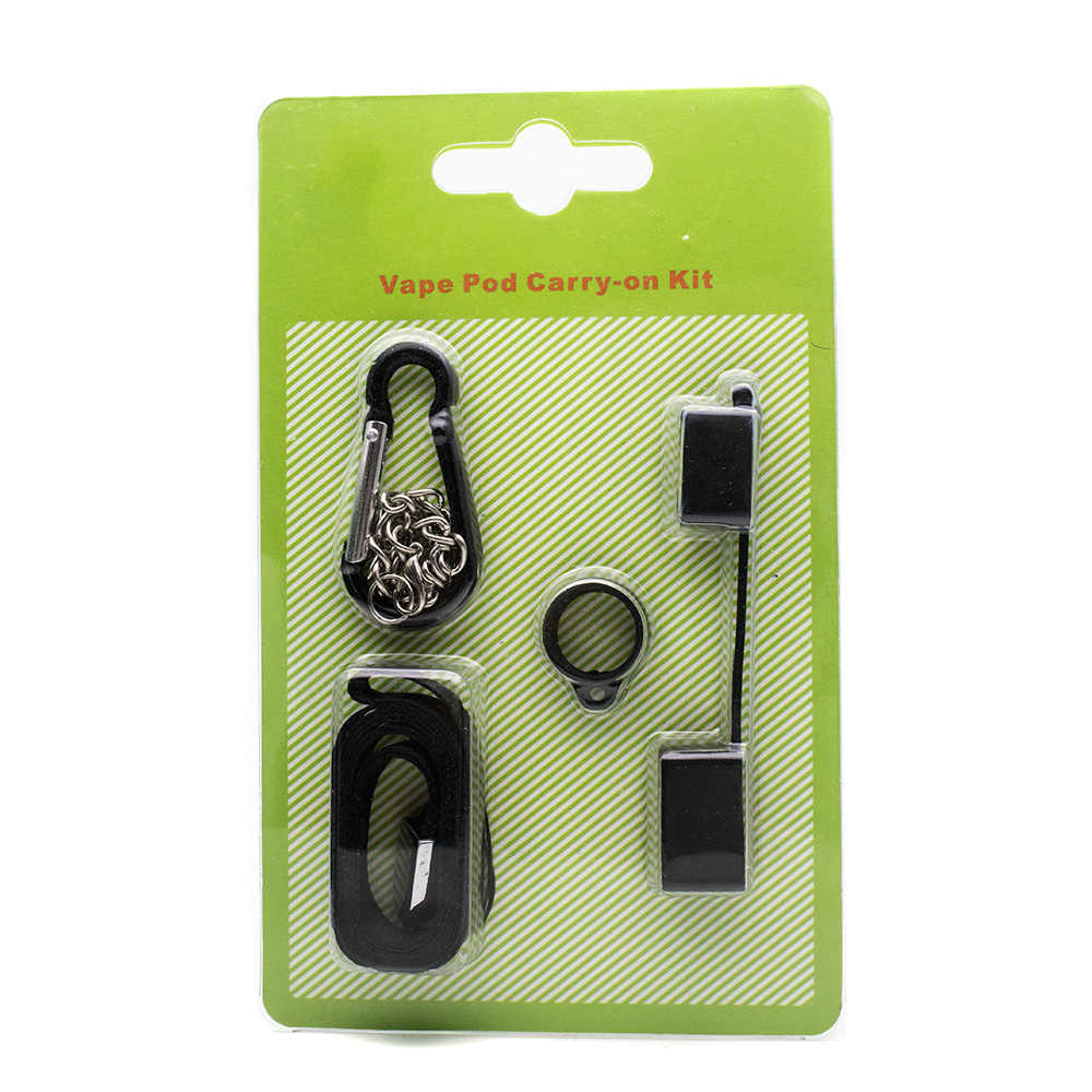 Vape Pod Carry-on Kit with Portable Lanyard Vape Ring And Anti-dust Cap for Vape Pod System Juu Electronic Cigarette Accessory