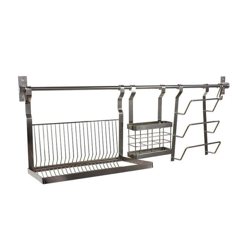Stainless Steel Kitchen Dish Rack Shelving Drain Pot Chopstick Cage Wall Hanging Shipping In Cabinets From Home Improvement On