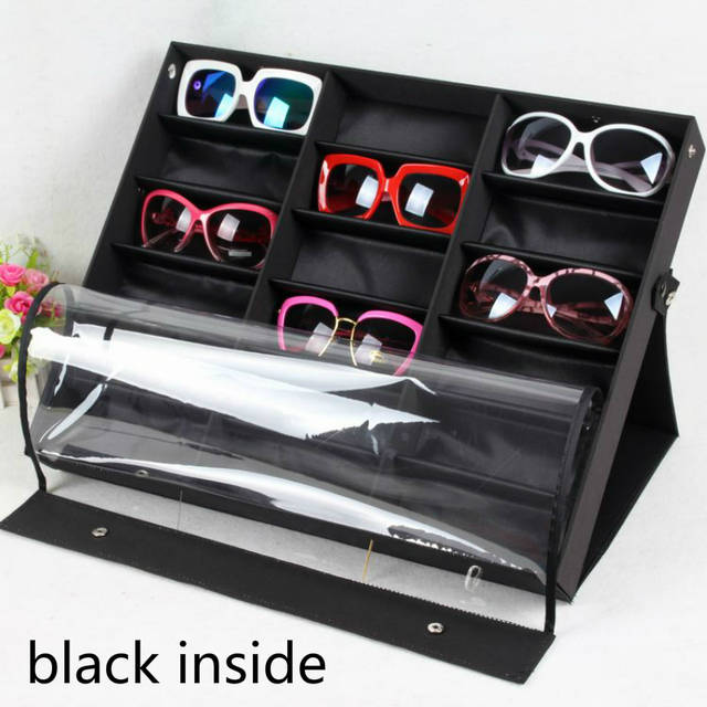 2dc18d8a0c3a0 Beddom Sunglasses Box Black Wood 18Grids Eyeglass Box Eyewear Organizer  Display Case Box Collector Sunglasses Storage