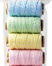 ON SALE - 200pcs Cotton Baker's Twine -20 Yard Roll -2mm/12ply fast shipping by dhl /fedex /ups