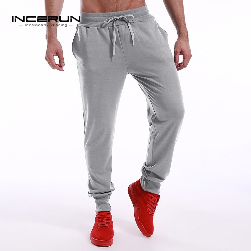INCERUN Long Sweatpants Men's Trousers Sporting Pants Men