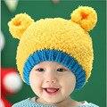 Crianças inverno Tampão Do Bebê para Meninos Meninas Crochet Moda tricô Infant Toddler Beanie Chapéus Para Crianças Crianças Mão Chapéu Morno Cap