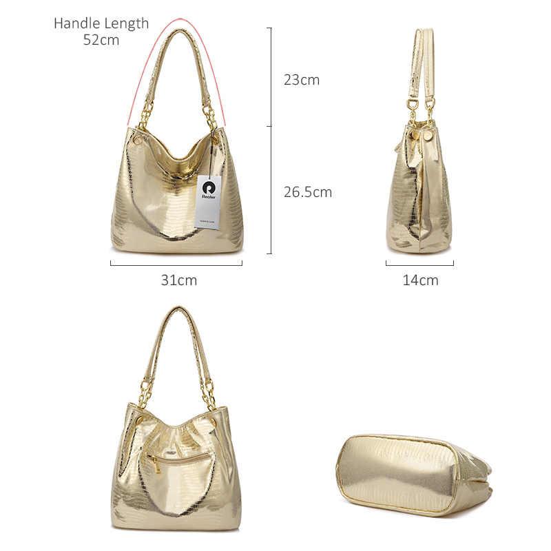 Realer женская сумка хобо с короткими ручками, большая сумка женская через плечо, сумка на плечо для женщин из искусственной кожи ,дамские сумки мешок
