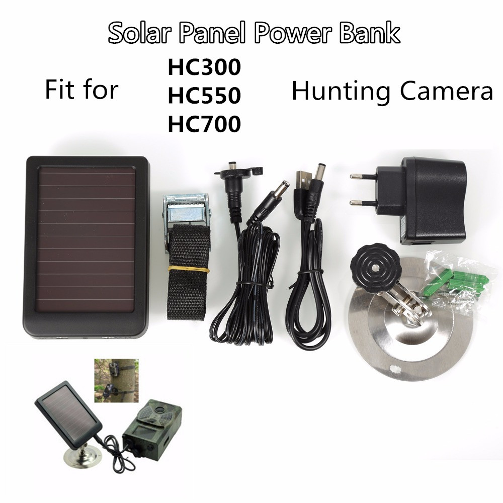 Solar-Powered-Panel-Charger Surveillance-Camera HC550G Hunting HC300M Photo-Traps Wildcamera-Wildlife