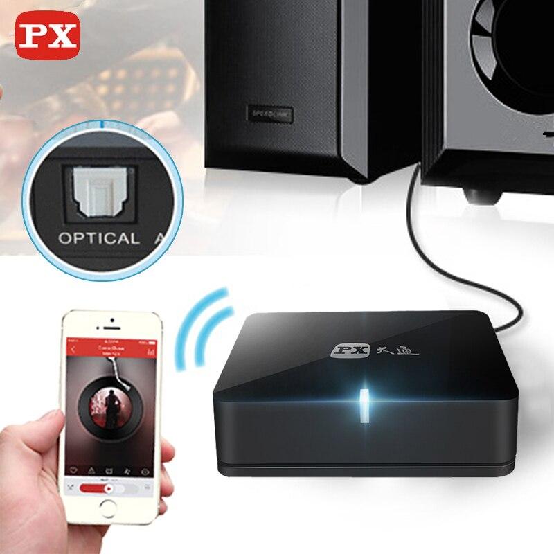 PX Bluetooth Récepteur Aptx Audio Spdif 5.1 Système de son Sans Fil musique Mini Hifi Adaptateur 3.5mm pour haut-parleur Aux Rca Jack 4.0