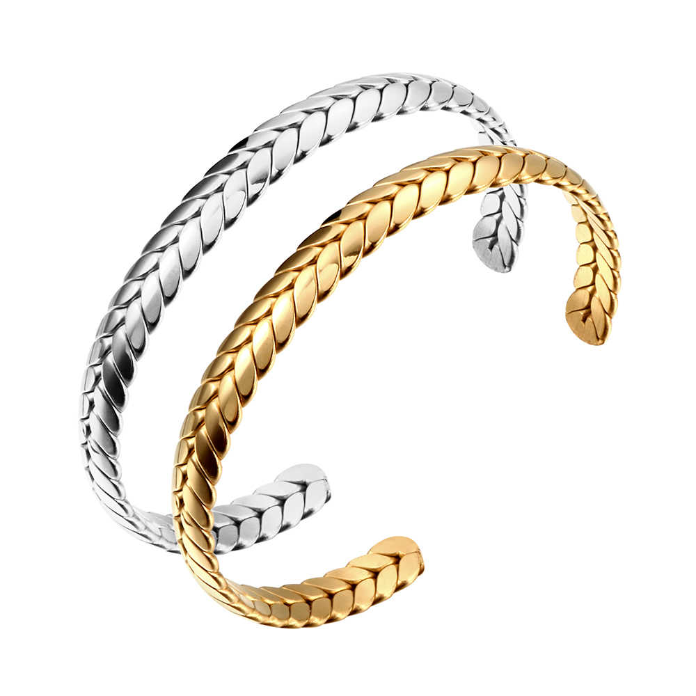 Unique Stainless Steel Bracelets & Bangle Luxury Lover's Cuff Bracelets Silver Gold Spike Opening Bangle Jewelry for Women