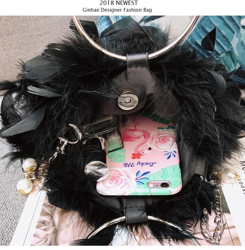 circular bolsa pequena corrente ombro crossbody sacos