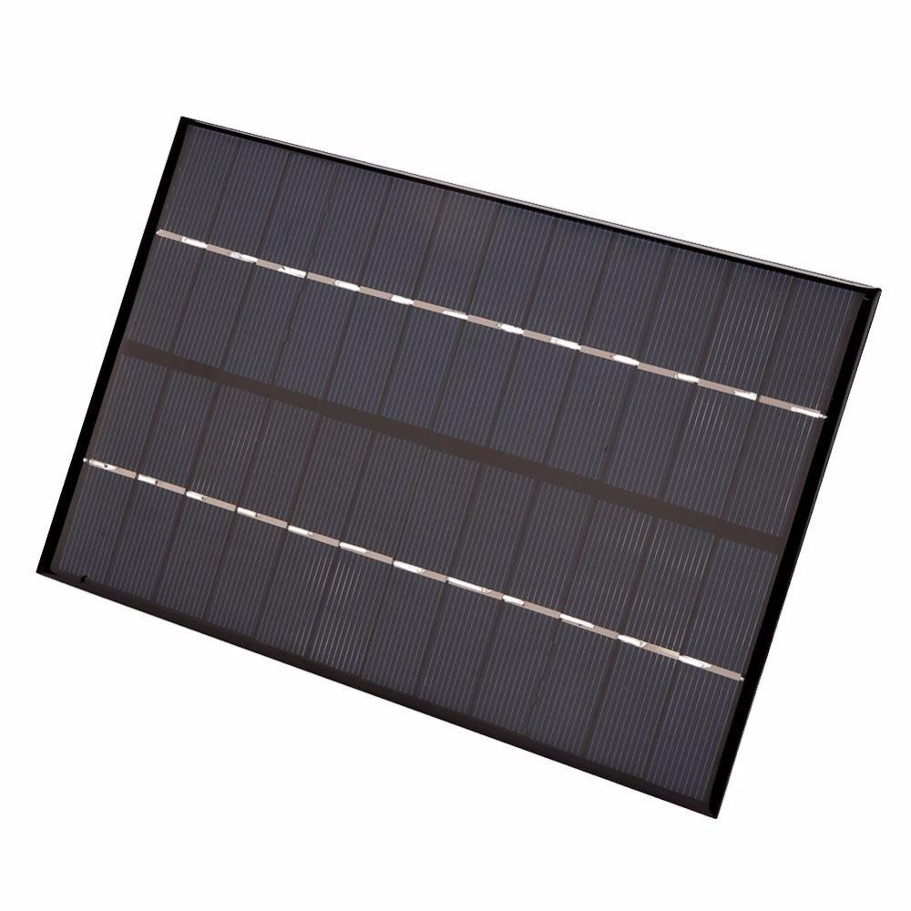 4.2W 12V Polycrystalline Silicon Solar Panel Charger Board Power Pack Silicon Black Portable Compact DIY 200 *130*3 mm