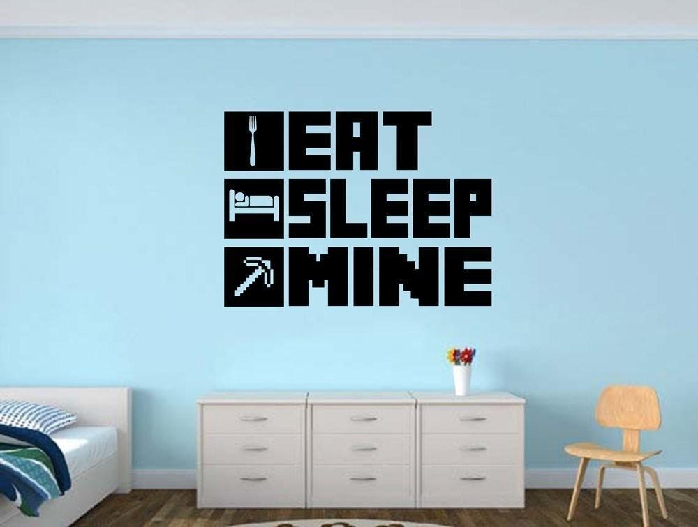 Aliexpress Com Buy New Creative Minecraft Eat Sleep Mine Gamer