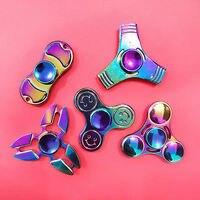 4 Styles Metal Rainbow Fidget Hand Finger Spinner Focus EDC Bearing Toys Kids Adult Anti Stress