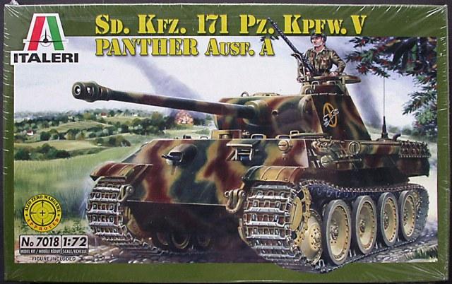 italeri sd Kfz 171 pz Kpfw V Panther Ausf A Tank model kit 7018