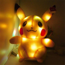 Светящийся Красочный Светодиодный свет плюшевый Пикачу Кукла светящаяся Пикачу плюшевая игрушка