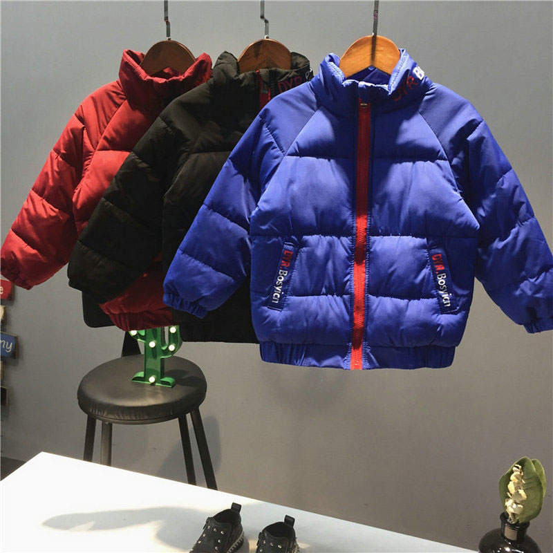 Cotton Thick Jacket for Boy Autumn Winter Warm Outerwear Sport Children's Clothing Clothes Child Boys Coats Letter Cloth 2-10T 3 8 yrs winter thick coats boys girl warm outwear cotton parkas windproof child deteched hooded long style brand autumn jacket