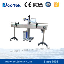 Flying fiber laser marking machine with transmit unit with competitive price