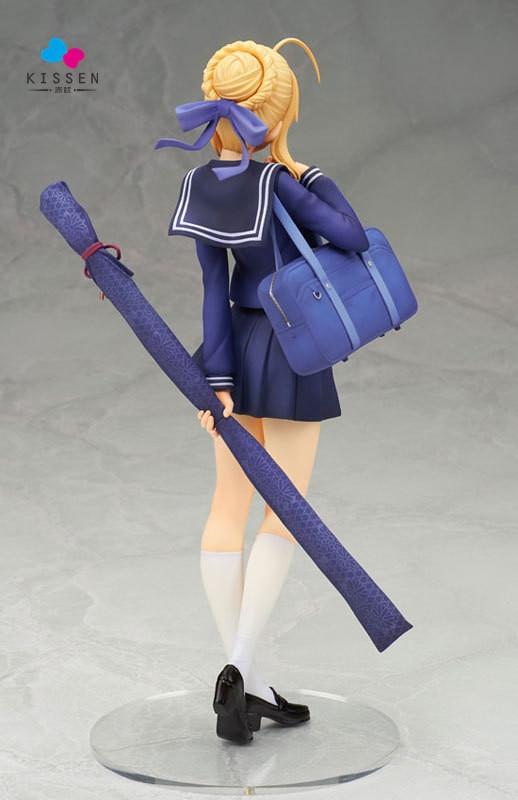ФОТО Kissen ALTER Fate Stay Night Anime School Uniform Ver Saber 20cm PVC Action Figure Fan Collection Cartoon Model Plastic Toy