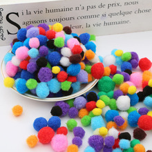 100Pcs Mix Size 1cm 1.5cm 2cm  Random Mixed Color Pompom Soft Pom Pom Balls for DIY Kids Toys Accessories