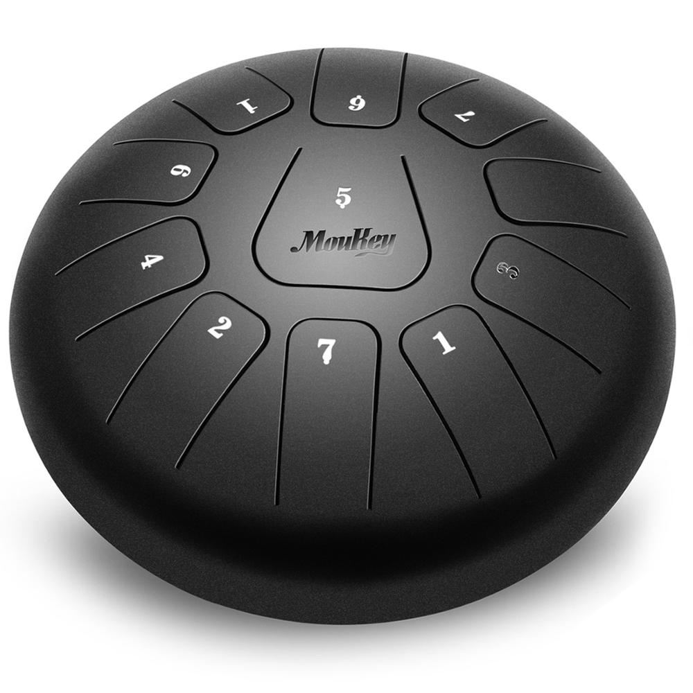 Mini tambour langue Moukey 11 Notes 10 pouces avec sac de voyage rembourré