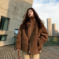 Thick warm jacket female 2018 winter faux fur coat women's loose lamb wool coat woman jacket winter thick coat Korean jacket