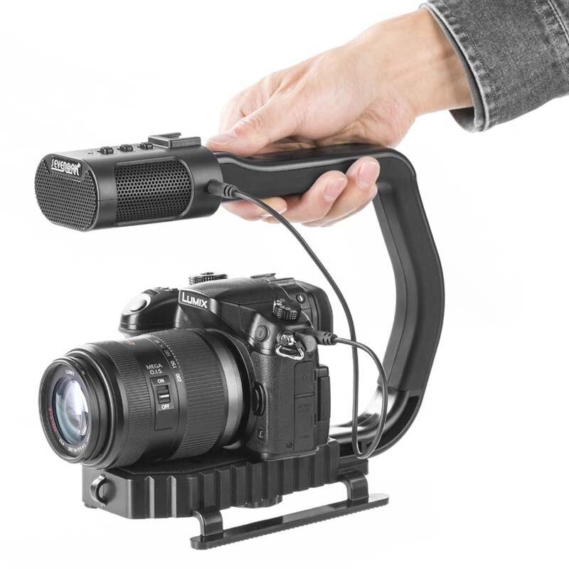 Poignée vidéo universelle ightpro SEVENOAK MicRig avec Microphone stéréo intégré pour iPhone DSLR caméra caméscope téléphone