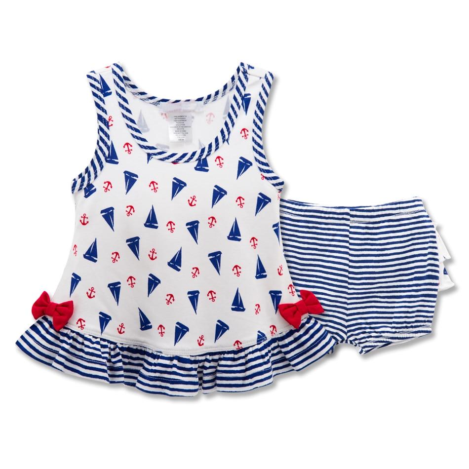 Shirt design for baby girl - Kavkas 2pcs Baby Girl Clothes Set Seaside Fashion Design Vest Pant Newborn Girl Clothing Infant
