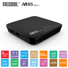 Mecool M8S Pro L Android 7.1 Amlogic S912 TV Box Kontrol Suara 4K Streaming 3GB 16 GB/ 32GB Media Player 4K HD Wifi Smart TV Box(China)