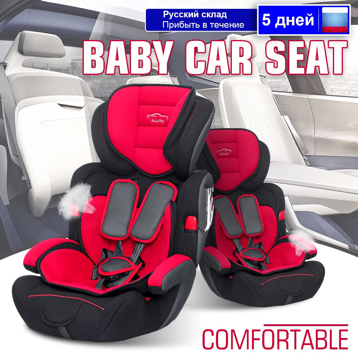 Sièges de sécurité auto enfant siège de sécurité bébé pour fauteuil 9-36 KG groupe 1/2/3 harnais cinq points sièges rehausseurs bébé 9 mois à 12 ans