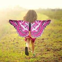 Y.O/специальный Карнавальный костюм для девочек 3-9 лет, крылья бабочки, крылья феи, вечерние костюмы, летняя Солнцезащитная маска, детский игрушечный костюм животного