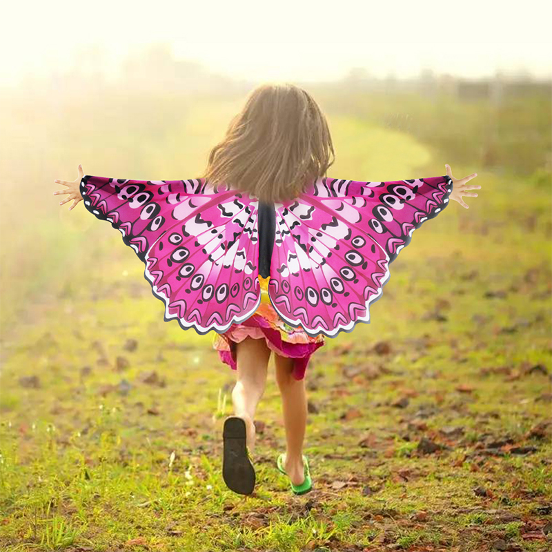 3-9 Y.o Special Pink Cosplay Butterfly Wings For Girl Costume Party Summer Sunscreen Masque Children Toy Animal Costume Girls Costumes