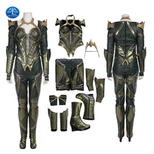 Manluyunxiao Justice League Mera Cosplay Leather Suit Halloween Costume For Women Aquaman Superhero Out  Full Set Custom Made