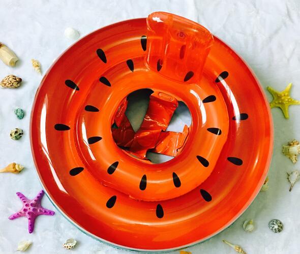 För barn vattenmelon stil Uppblåsbara simning Ring flytande Sitt runt Baby Uppblåsbara sätesring