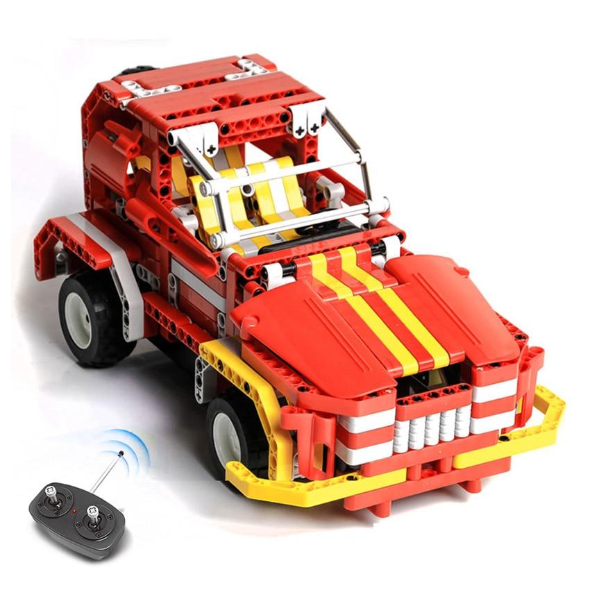 472pcs DIY Technic Building Block Car Kit Transform RC Jeep to Sport car model Car Assemble Set Toys Christmas Gift for kid boy mu 3d metal nano puzzle tf op g1 model kit ym l03g c diy 3d laser cut assemble jigsaw toys for audit