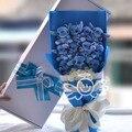 2016 новый! Горячая распродажа с цветами в руках, 11 шт. кукла, Пакет : подарочной коробке, День святого валентина / подарок на день рождения, Плюшевые куклы букет