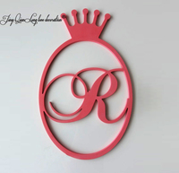 Front door hanger. Wall decor. Gift. Wall hanging. Wooden monogram. Nursery decor.Standing Letters Sign with crown.