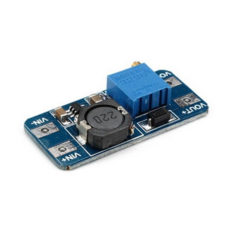 5 teile/los MT3608 DC-DC Einstellbar Boost Modul 2A Boost Step Up Modul mit MICRO USB 2 V-24 V zu 5V 9V 12V 28V LM2577
