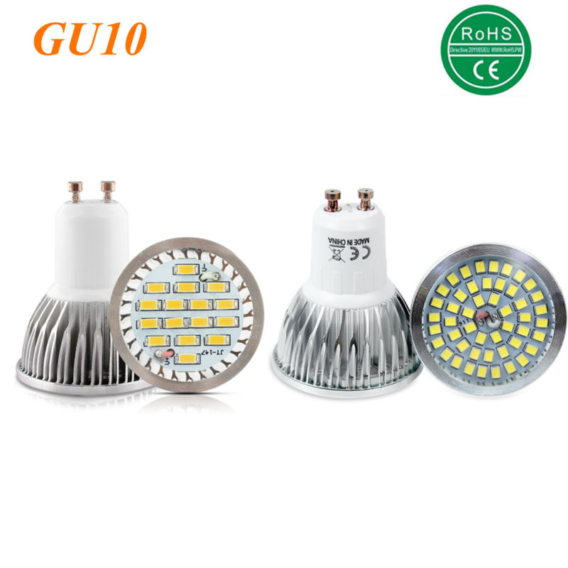 100% Quality Assurance GU10 11W 12W SMD 2835 16 48 <font><b>LED</b></font> Light Bulb White Warm White AC 220V <font><b>LED</b></font> Spot Aluminum Spot lamp spotlight image