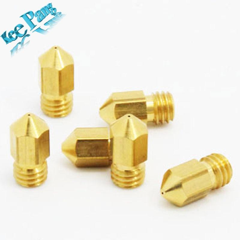 1 pcs 0.4mm/0.3mm/0.2mm 3D printer extruder nozzle/Print head  MK8 Makerbot common use