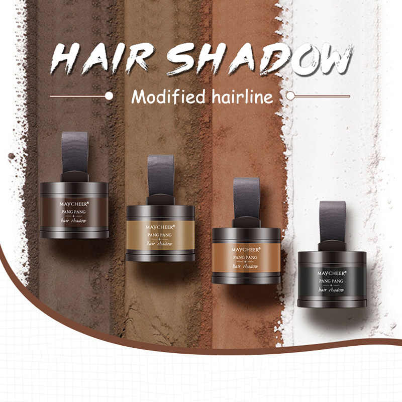 MAYCHEER Makeup Hair Line Shadow Powder Eyebrow   Up neat symmetry hairline with Mirror Puff Fibers Quick Hair Repair 4 Color